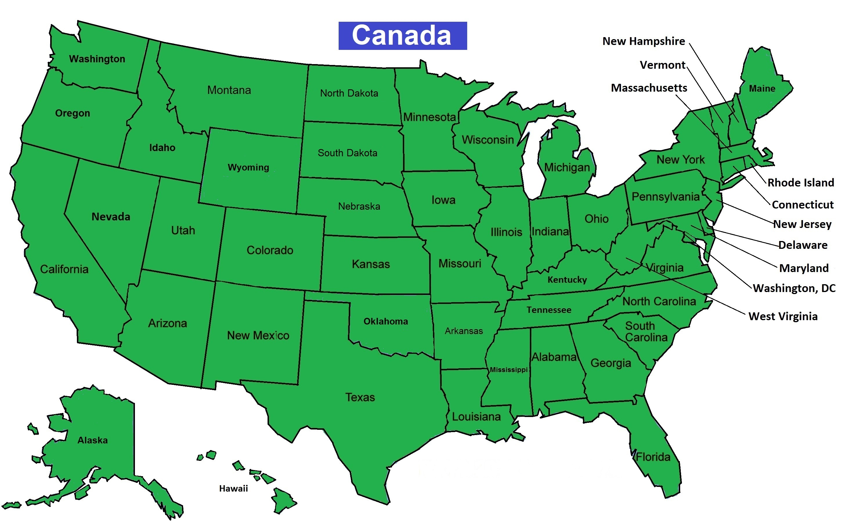 United States map of clients.
